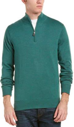 Peter Millar Crown Soft Maxwell Lined 1/4-Zip Merino Wool & Silk-Blend Sweater