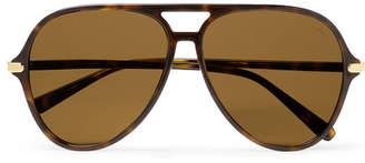 Brioni Aviator-Style Tortoiseshell Acetate Sunglasses