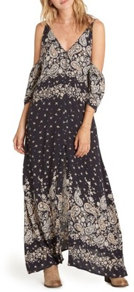Women's Billabong Desert Dance Cold Shoulder Maxi Dress $69.95 thestylecure.com