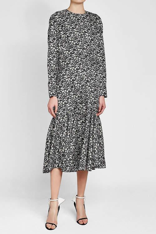 CALVIN KLEIN 205W39NYC Printed Silk Dress