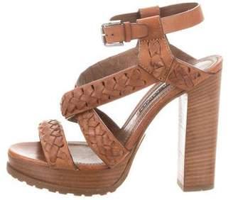 Ralph Lauren Braided Leather Platform Sandals