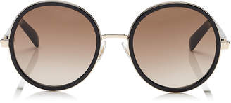 Andie Crystal Glitter Round Sunglasses in Rose Gold Black ANDIE/S J7Q 54 J6 Jimmy Choo London I7ViGYl