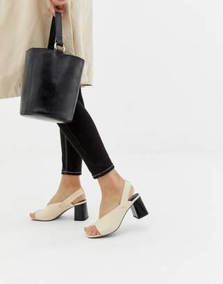 Asos Design DESIGN Howdy toe loop block heeled sandals