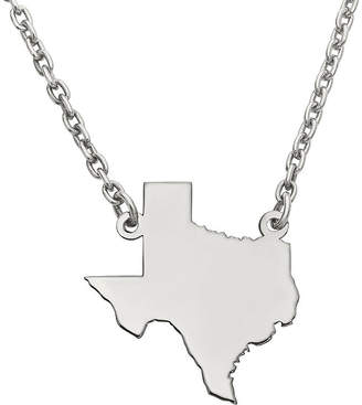 FINE JEWELRY Personalized Sterling Silver Texas Pendant Necklace
