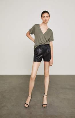 BCBGMAXAZRIA Symon Faux-Leather Short