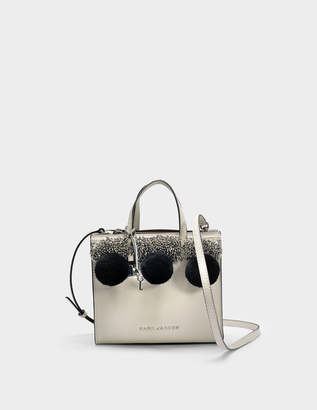 Marc Jacobs The Mini Grind Tote Bag in Antique White Cow Leather