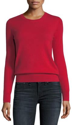 Neiman Marcus Classic Cashmere Crewneck Sweater, Plus Size