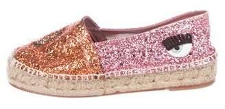 Chiara Ferragni Glitter Espadrille Flats