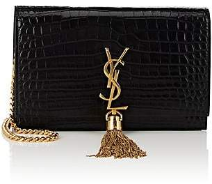 Saint Laurent Women's Monogram Kate Leather Chain Wallet