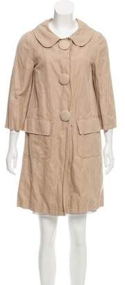 Gryphon Knee-Length Button-Up Coat