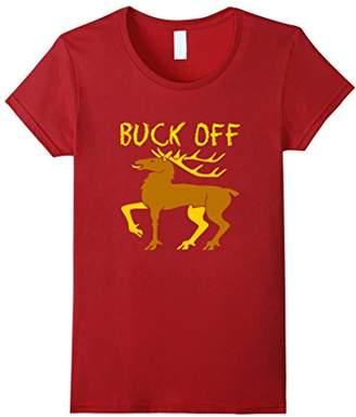 Hunting T-Shirt-Buck Off Funny Hunting Deer Shirt