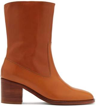 A.P.C. Eva Leather Boots - Womens - Tan