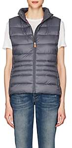 Save The Duck SAVE THE DUCK WOMEN'S CHANNEL-QUILTED TECH-FABRIC VEST-70 CHARCOAL SIZE XS