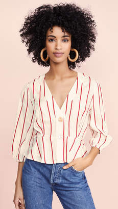 J.o.a. Red Stripe Blouse