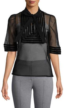 Jill Stuart Stephania Velvet Striped Blouse