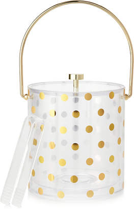 Kate Spade Gold Dots Acrylic Ice Bucket