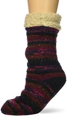 Dearfoams Women's Fancy Fairisle Blizzard Sock Slipper