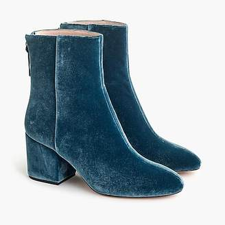 J.Crew Sadie ankle boots in velvet