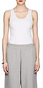 Helmut Lang Women's Rib-Knit Cotton Tank - White