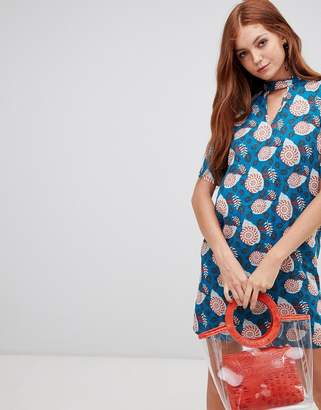 Vero Moda abstract floral shift dress