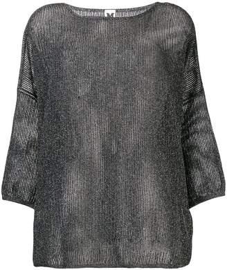 M Missoni loose weave 3/4 sleeve sweater