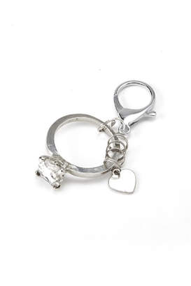 Twos Company Two's Company Diamond Ring Keychain