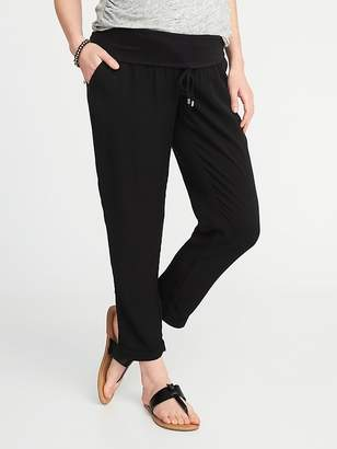 Old Navy Maternity Roll-Panel Soft Pants