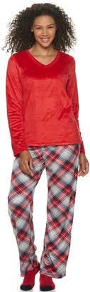 Croft & Barrow Women's Petite 3 Piece Minky Fleece Pajama Set with Sock
