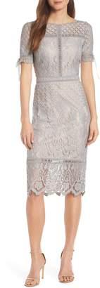 Tadashi Shoji Tie Sleeve Lace Sheath Dress