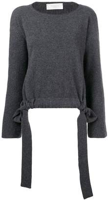 Zanone slash neck drawstring sweater