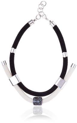 Iris Costume Necklace With Ceramic Elements