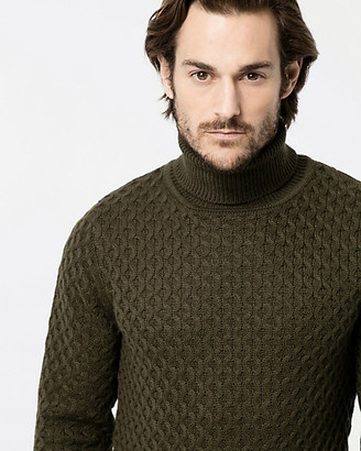 Le Château Textured Knit Turtleneck Sweater