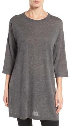 Women's Eileen Fisher Tencel & Merino Wool Blend Tunic $228 thestylecure.com