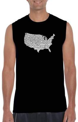 Pop Culture Big Men's Sleeveless T-Shirt - The Star Spangled Banner