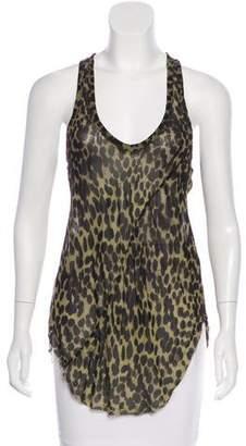 Etoile Isabel Marant Sleeveless Leopard Print Top