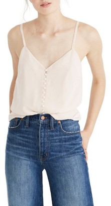 Women's Madewell Silk Button Down Camisole $75 thestylecure.com