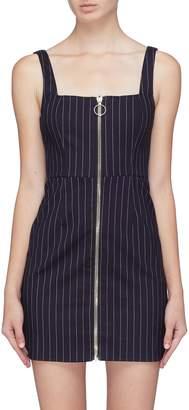Nicholas Zip front pinstripe dress