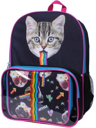 rainbow cat backpack lunch box set