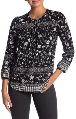 Lucky Brand Floral Print Henley Top