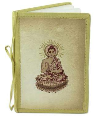 Poetic Buddha Artisan Crafted Buddhism Journal 48 Blank Handmade Paper