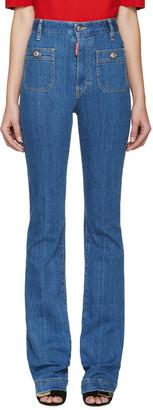Dsquared2 Blue Flared Iza California Jeans $395 thestylecure.com