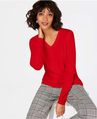 Charter Club Petite Pure Cashmere V-Neck Sweater