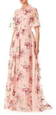 Carolina Herrera Floral Silk Gown