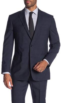Brooks Brothers Navy Plaid Two Button Notch Lapel Wool Classic Fit Suit Separates Jacket