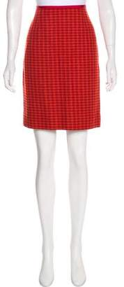 Tory Burch Houndstooth Knee-Length Skirt