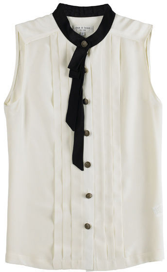 Rag & Bone Sleeveless Pleated Blouse