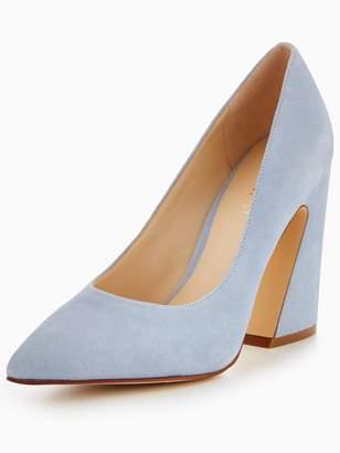 Nine West Henra Flare Heel Pointed Court Shoe - Pale Blue