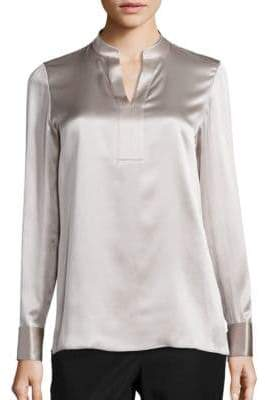 Lafayette 148 New York Diane Silk Charmeuse Blouse