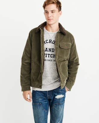 Abercrombie & Fitch Sherpa Corduroy Jacket