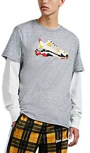 Mostly Heard Rarely Seen 8-Bit Men's Dadcore Sneaker-Graphic Cotton T-Shirt - Gray